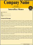Interoffice Memo Template form