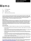Professional Memo Example