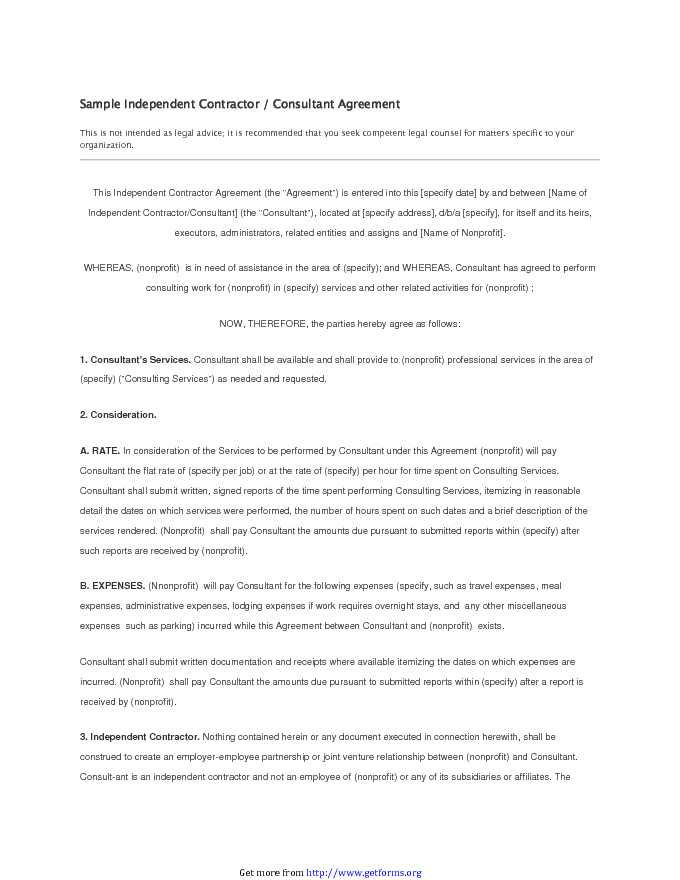 Independent Contractor Agreement 3