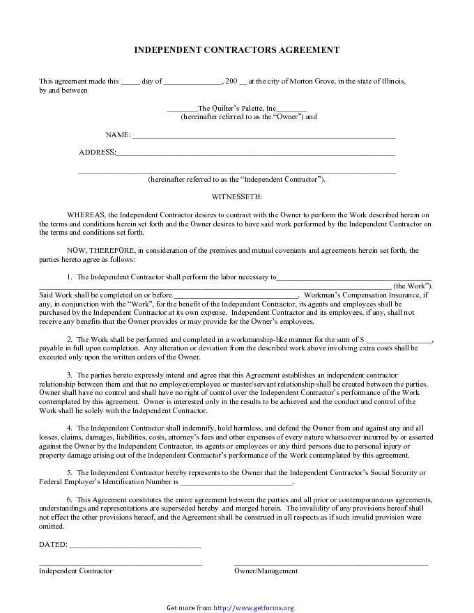 Independent Contractor Agreement 4