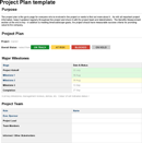 Template for Project Plan