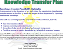 Knowledge Transfer Template