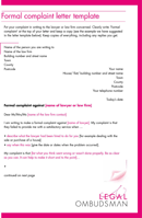 Formal Complaint Letter Template form