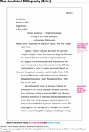 MLA Annotated Bibliography Example