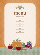 Party Menu Template 2