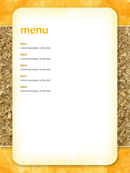 Party Menu Template 3
