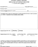 Payroll Direct Deposit Employee Authorization Form