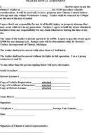 Trailer Rental Agreement