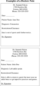 Doctors Note Template 3