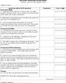 Applicant Interview Rating Sheet