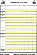 Mexican Train Score Sheet 1