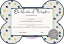 Pet Adoption Certificate