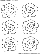 Flower Template of Roses form