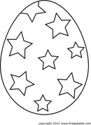Easter Egg Template 1
