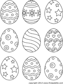 Easter Egg Template 2