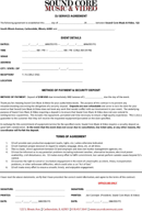 Dj Service Agreement form