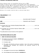 Contract for Services Template form