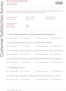 Customer Satisfaction Survey Template