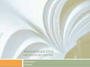Academic Presentation for College Course (Textbook Design) form