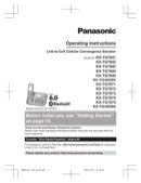 Panasonic Owners Manual Sample