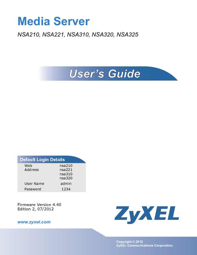 ZyXEL Owners Manual Sample