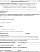 Human Informed Consent Form form