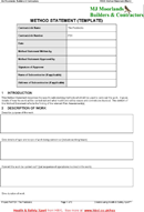 Method Statement Template 2