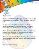 Easter Morning Letter from the Easter Bunny