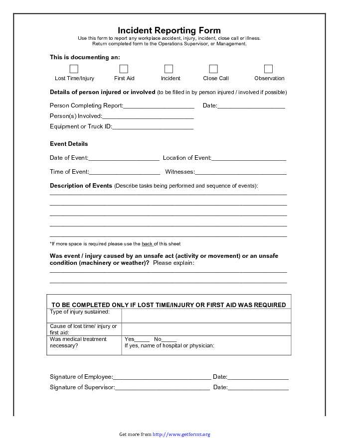 Incident Report Form 2